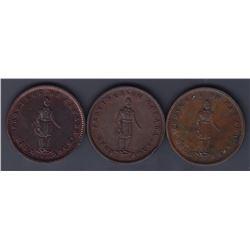 Br 528. Quebec Bank penny, 1852.