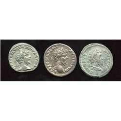Septimius Severus, (145-211 AD) Denarii (3)