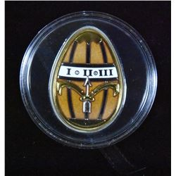 Cook Island 2013 $5 Imperial Egg: Egg in Gold - Pure Silver Coin