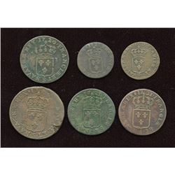 FRENCH REGIME - Lot of 6