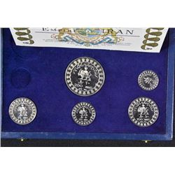 2500 Years of Iranian Monarchy Silver Coin Set, 1971