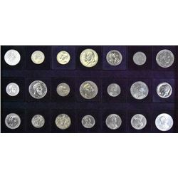 Germany (German States) - Lot of 21 Silver Coins - Part 3