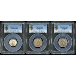 Great Britain PCGS Graded - Lot of 3