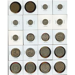 New Zealand - Lot of 20 Coins