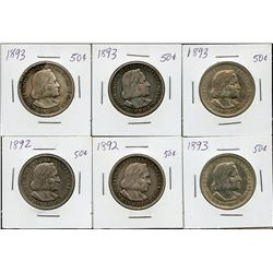 US commemorative half dollars - 6 coin lot