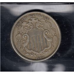 1870 USA Five Cents