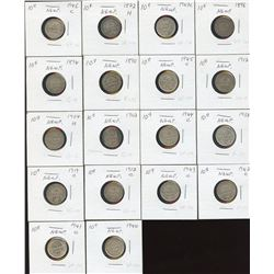 Newfoundland Ten Cents - Lot of 21