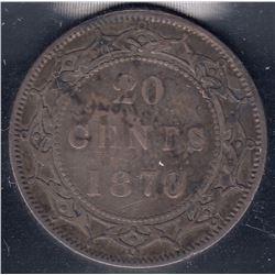 Newfoundland 1870 20 Cents
