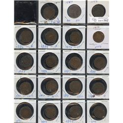 Large Cent Collection of 46 Coins