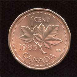 1985 One Cent - Pointed 5.