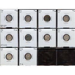 Lot of 10 Five Cents