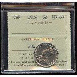 1924 Five Cents