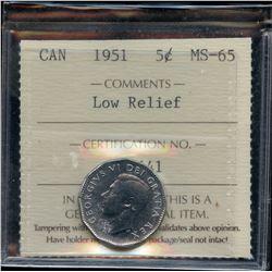 1951 Five Cents
