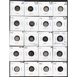 Lot of 72 Five Cents