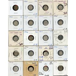 Large lot of 96 Five Cents