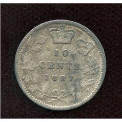 1887 Ten Cents