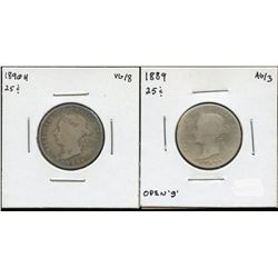 1889 & 1890H Twenty-Five Cents