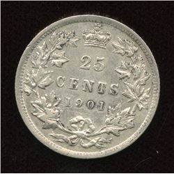 1901 Twenty-Five Cents