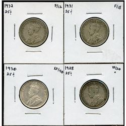 Twenty-Five Cents - Lot of 4