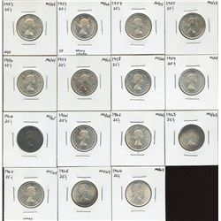 Twenty-Five Cents - Lot of 15