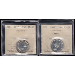 1957 & 1961 Twenty-Five Cents