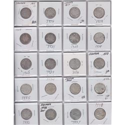 Canadian Twenty-Five Cents Collection (1870 - 2016)