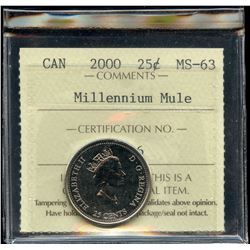 2000 Millennium Mule Twenty-Five Cents