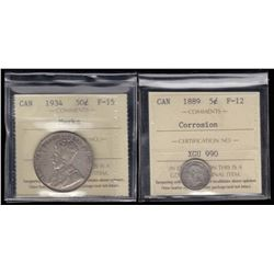Lot of 2 ICCS Graded Coins