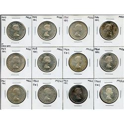 Lot of 24 Fifty Cents