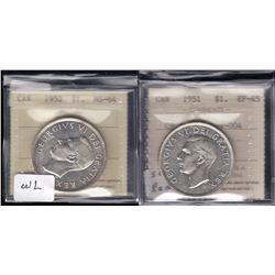 1951 & 1952 Silver Dollars