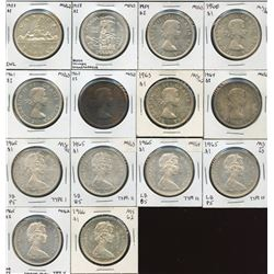 Lot of 14 Silver Dollars