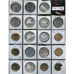 Lot of 19 Silver & Nickel Dollars