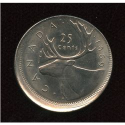 1969 Twenty-Five Cents Off Struck