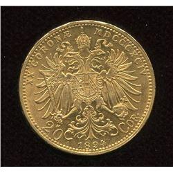 Austria 1894 Gold 20 Corona - Franz Joseph I