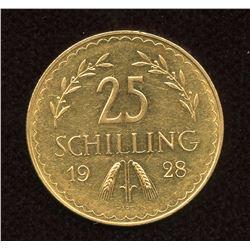 Austria 1928 Gold 25 Schilling