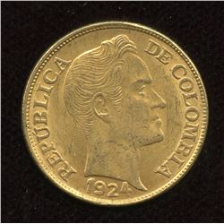 1924 Colombia 5 Peso -Simon Bolivar