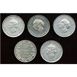 Lot of Five Banfield Medals.