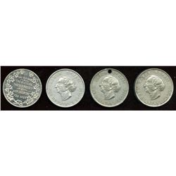 Lot of Four Banfield Medals.