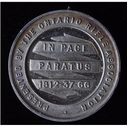 Ontario Medal - Ler 1601  Ontario Rifle Association with edge inscription B.R.A. 1884 . 1st Aggregat