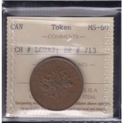 BR 713. Trade & Agriculture Lower Canada Token