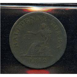 BR 1004,Half Penny Sailing Ship, 1812