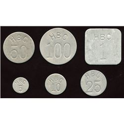Hudson Bay Company Eastern Arctic Token Set of 5
