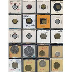 Lot of 40 Toronto, Ontario transportation, parking tokens and medals