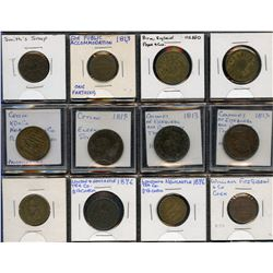 Lot of Twenty-two English and English ColonyTokens.