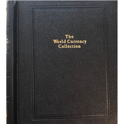 World Currency Collection in binder with 6 notes.