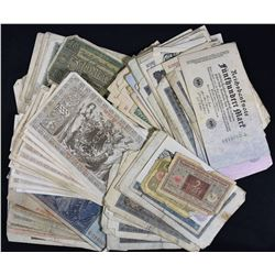 Large Lot of German Banknotes