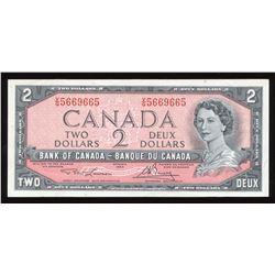 Bank of Canada $2, 1954 Radar
