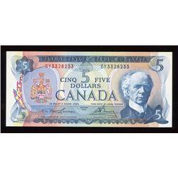 Bank of Canada $5, 1972 Radar