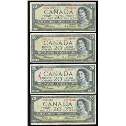 Bank of Canada $20, 1954 - Devil's Face Lot