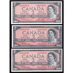 Bank of Canada $2, 1954 Replacement - Lot of 5